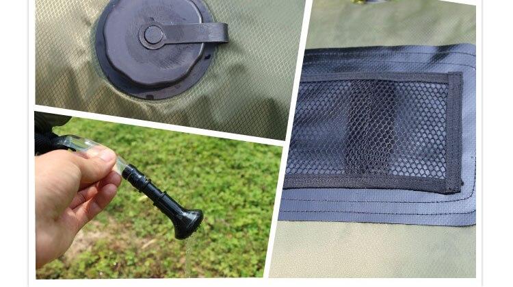 lemochic hohe 20l tour solarheizung mit thermometer folding dusche warmwasser tasche sommer outdoor camping wandern selbstfahr in lemochic hohe 20l tour - Outdoor Dusche Warmwasser
