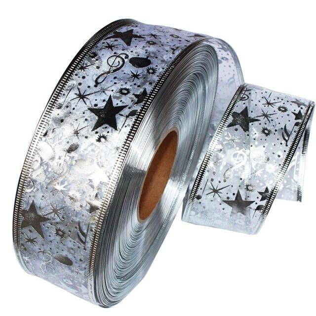 DIY Card Gift Wrapping Lace Crafts Handmade Satin Edge Organza Star Ribbon Bow Hair Wedding Christmas Decoration 200*5cm 19
