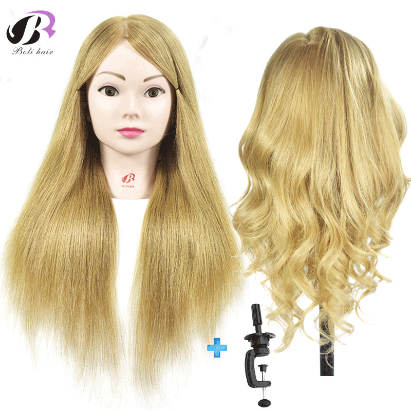 Free Shipping Mannequin Head With 55cm Blonde Hair Manikin Dolls For Hairdressing Practice Training Head With Free Desk HolderFree Shipping Mannequin Head With 55cm Blonde Hair Manikin Dolls For Hairdressing Practice Training Head With Free Desk Holder