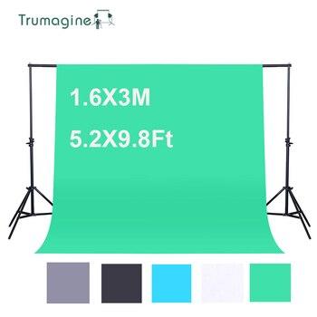 1.6X3M/5.2X9.8Ft Photography Background Green Screen Non-woven Fabric Photo Studio Backdrops Chromakey Shooting Screen