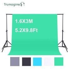1.6x3 m/5.2x9.8ft 사진 배경 녹색 화면 부직포 사진 스튜디오 배경 chromakey 촬영 화면