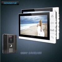 HOMSECUR Новый 9 Проводной Видео Домофонные дверной звонок безопасности дома, домофон Системы 1 из 2 в