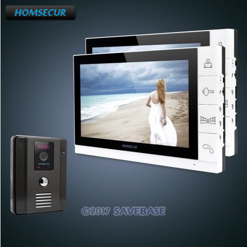 HOMSECUR New 9 Wired Video Door Phone Doorbell Home Security Intercom System 1 Out 2 In