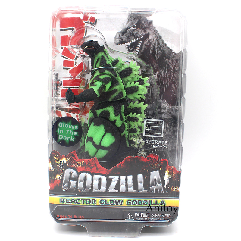 NECA Reactor Glow Godzilla Glows In The Dark PVC Action Figure Collectible Model Toy 18cm free shipping neca godzilla movie 2014 2001 1954 pvc action figure classic collectible model toy kt3380