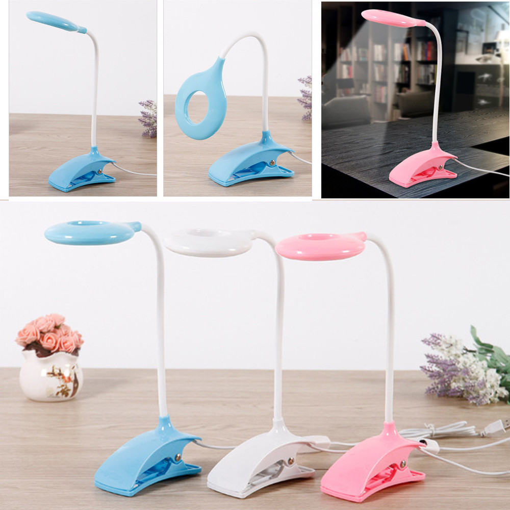 FANHHUI Desk lamp USB Table Lamp LED Table lamp with Clip Reading Bed Night Light LED Desk lamp Table on flexible usb led rechargeable night lights clip on bed table desk study reading learning lamp eye protection clip lamp lighting