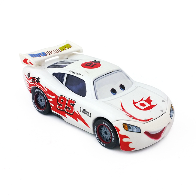 Disney White 7.5 Cm Metal Car Action Figure 1:55 Scale Toy Racing Cars Alloy Model Toys for Childrens Christmas Gift No.95