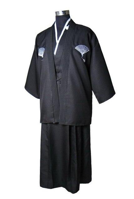 Ulusal Eğilimler Japon erkek Savaşçı Kimono Obi Ile Geleneksel Yukata Yenilik Performans Dans Kostümleri Bir Boyut