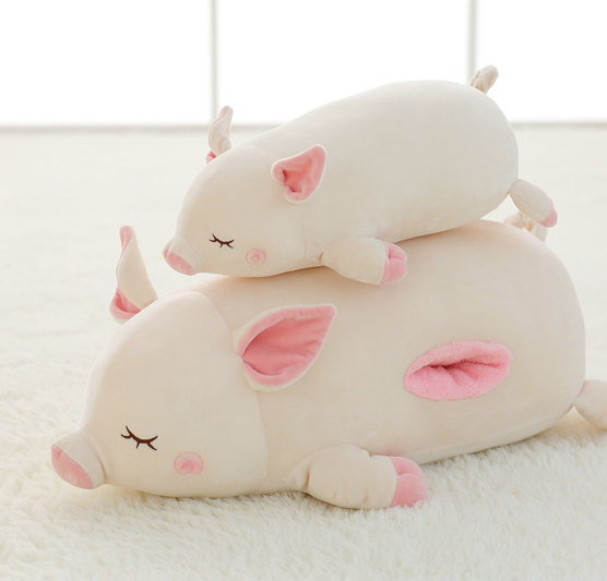 Candice guo plush toy stuffed doll cute soft pig piggy sofa pillow sleep cushion hand warm birthday gift christmas present 1pc