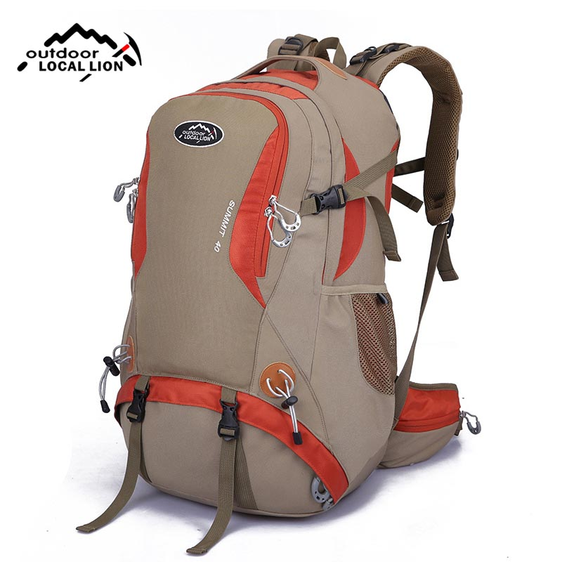 2017 Men Outdoor Sports Mountaineering Backpack Women Waterproof Nylon Shoulder Bag Travelling Camping Hiking Rucksack XA429WD 75l external frame support outdoor backpack mountaineering bag backpack men and women travel backpack a4809