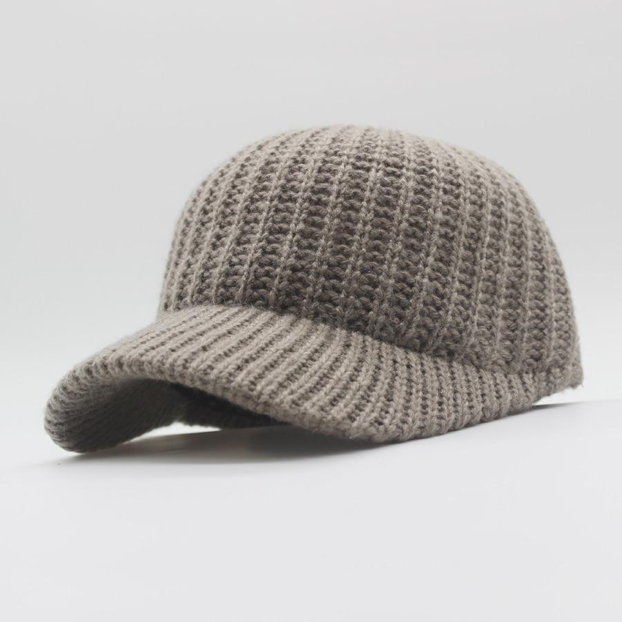 74105fe928c W 2018 new unisex baseball cap cashmere blended knit cap ladies personality  hat autumn and winter warm hat elastic men hat