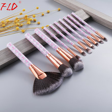 FLD Böhmen Stil Professionelle Make-Up Pinsel Set Kit Erröten Eyeliner Lidschatten Gesicht Pulver Pinsel Set Für Kosmetische(China)