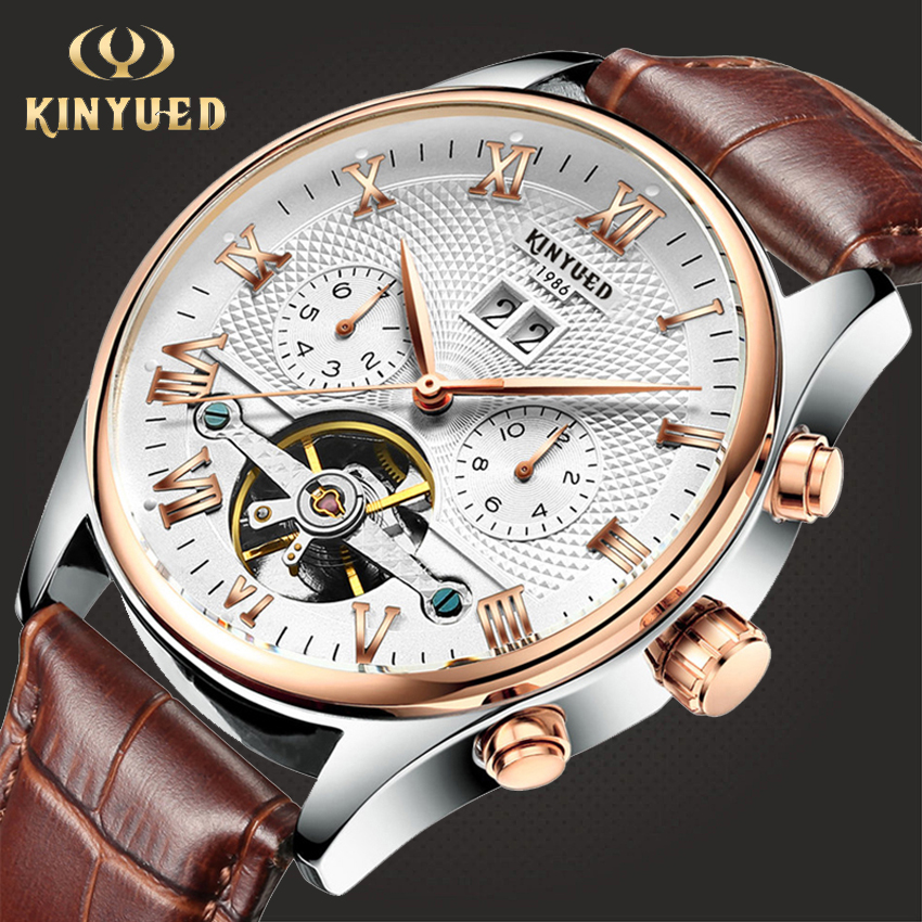 HTB120qzazzuK1RjSspeq6ziHVXam KINYUED Skeleton Tourbillon Mechanical Watch Men Automatic Classic Rose Gold Leather Mechanical Wrist Watches Reloj Hombre 2019