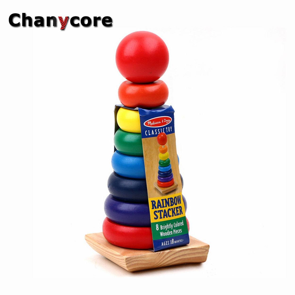 Baby Learning Educational Wooden Toys Rainbow Tower Circle Geometric Shape Blocks Column Board Sorting Matching Kids Gifts 4129