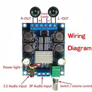 Image 4 - Tpa3116d2 50w + 50 amplificador de potência estéreo digital placa amplificador áudio para 12v 24v carro 50w * 2 100w