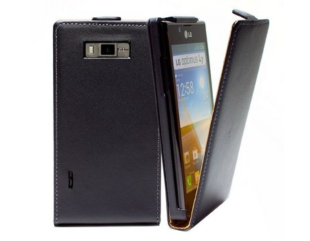 For LG Optimus L7 Case, Magnetic Flip Genuine Leather Case Cover for LG Optimus L7 P700 P705 Cell Phone Pouch Bag