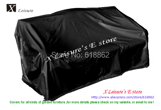 Protective Covers Weatherproof 3 Seat Wicker Rattan Sofa Cover Large 84x35x35 Black