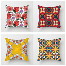 Fuwatacchi Nordic Style Floral Cushion Cover Geometric Flower Throw Pillowcase Sofa Bed Pillow Covers Decorative 45X45cm 2019