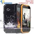 Xeno M2 Telefone À Prova de Poeira IP68 À Prova D' Água 3000 mah 4.5 polegada Gorila vidro Android 6.0 MTK6572 Dual Core de 5MP Do Telefone Móvel A8 A9 V9