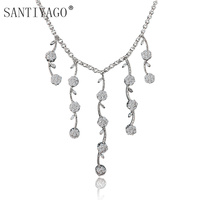 Wedding Engagement Jewelry Necklace Bride's Gorgeous 3A White Gold Plating Necklace Mermaid Wedding Dresses