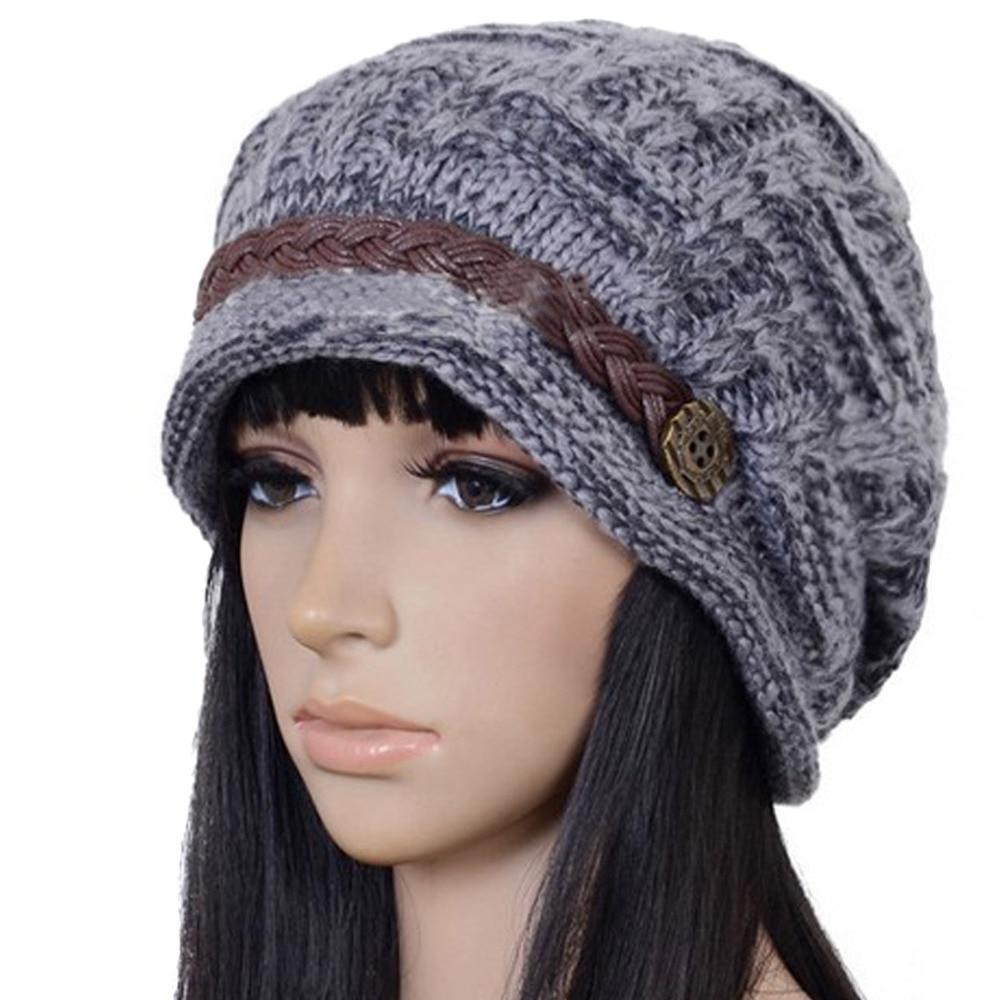 Men Women Boy Girl Slouchy Cabled Pattern Knit Beanie Crochet Rib ...