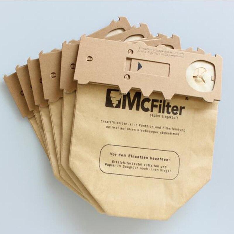Yijia 6 PCS/LOT For VORWERK For KOBOLD VK130 VK131 Paper dust bag suitable Vacuum Double Lined Micro Fibre Filter Dust Bag