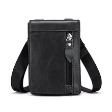 High Quality Men's Leather Messenger Shoulder Bag Handbag Outdoor Travel Hiking Crossbody Tote Phone Pouch 2019 New стоимость