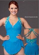 blue ice skating dress for women figure skating competition dresses hot sale figure skating dress women for girls custom