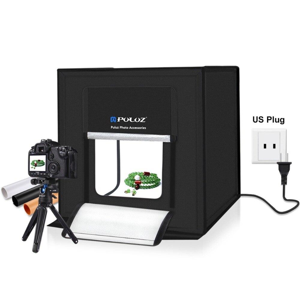 PULUZ 40*40cm Light Box Mini LED Photo Studio Soft Box Lighting Studio Shooting Tent Photography Boxes Foldable Softbox