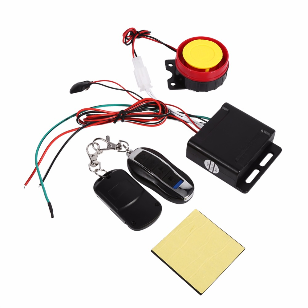 Motorcycle Bike Anti Theft Security Alarm System Remote
