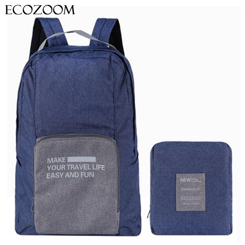 Women Men Foldable Canvas Backpack School Casual Back Pack Ultra Light Folding Bagpack Travel Bag Storage Shoulder Bags Rucksack casual canvas satchel men sling bag