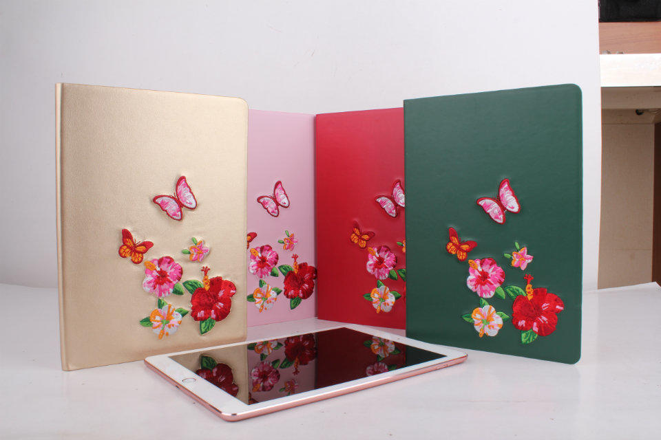 Embroid Flower PU Leather Case Cover for iPad Air 1/2 Tablet Protective shell For iPad Pro 9.7 inch Wake up/Sleep book Case+gift tablet case 9 7 tablet protective bag leather tablet shell skin 9 7 inch tablet cover for ipad air 1 5 2 6 ipad 2 3 4 ip yms008