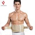 Cintura Cinto de Suporte Lombar Chaves de Volta Quatro Aços HOPEFORTH Respirável Tratamento da Hérnia de Disco Tensão Muscular Madeira Bege