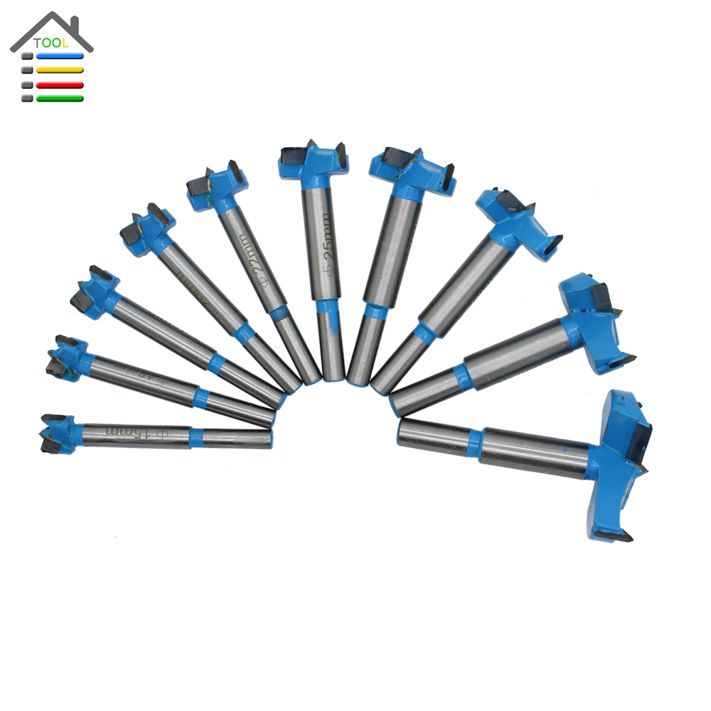 New 1PC Core Drill Bit Forstner Bits Wood Cutter Woodworking Drilling Drill Bit Tool 15-65mm Hinge Cutter Boring Carbide Tipped new 10pcs jobbers mini micro hss twist drill bits 0 5 3mm for wood pcb presses drilling dremel rotary tools