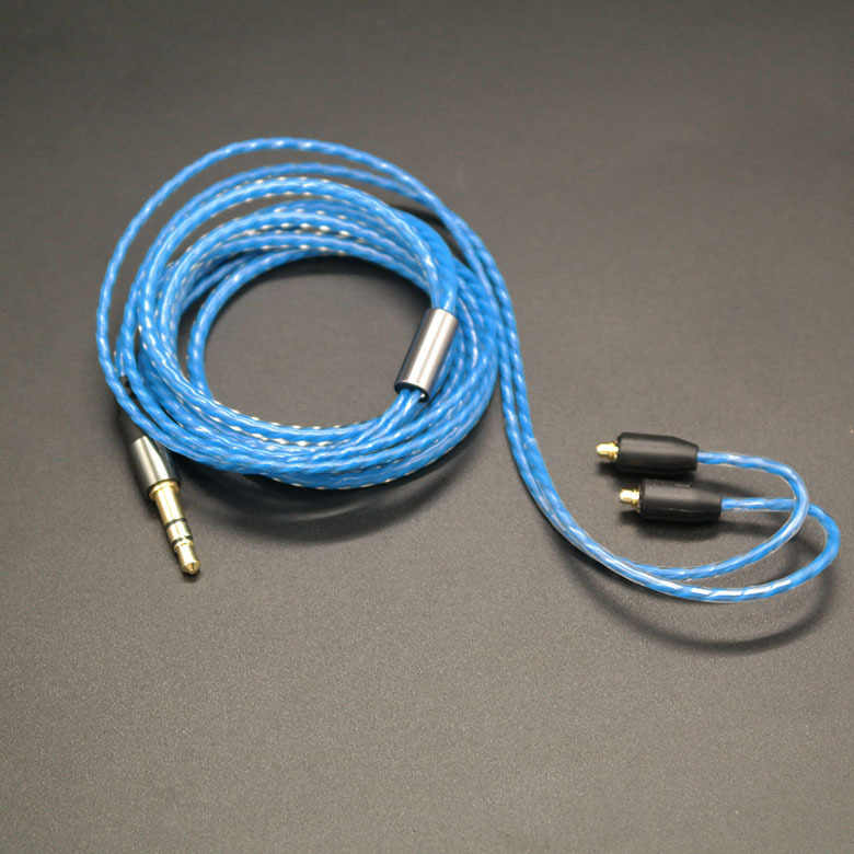 Pojedynczy kryształ miedź słuchawki z zaczepem na ucho odpinany kabel MMCX słuchawki MMCX kabel do Shure SE215 SE535 SENFER 4in1 DT2 UE900