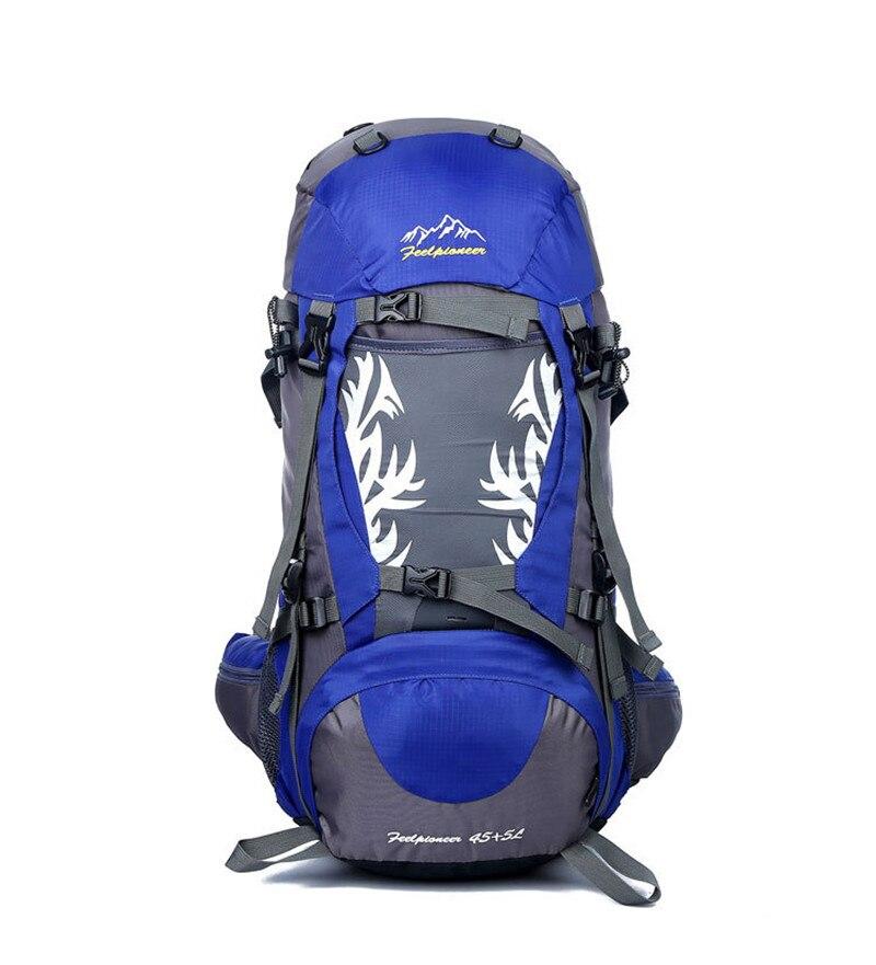 2017 50L waterproof backpack mochila men travel rucksack shoulder bag pack women backpack for trekking Mountaineering 6 colors