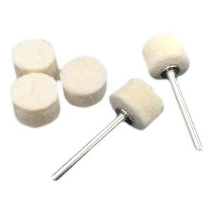 Image 5 - Caldo! 100Pcs 13 millimetri di Lana di Feltro di Lucidatura di lucidatura Pad + 2 Shank Per Dremel Rettifica Ruota