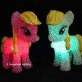 Bonito My Little Pony Colorido Mudança de Cor LED Night Light Table Lamp Decoração Brinquedos com bateria de brinquedo de presente de natal