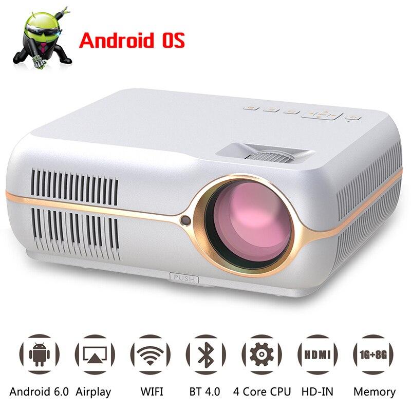 TUTTI GUADAGNO A10 Ha Condotto il Proiettore 4200 lumen HD Home Theater Ufficio di Sostegno Del Proiettore 1080 p con HDMI VGA AV USB porte proyector