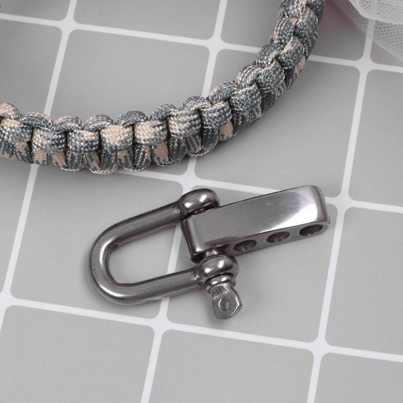 Atv,rv,boat & Other Vehicle Stainless Steel Bow Anchor Shackle Non Slip Screw Pin Paracord Bracelet Buckle Outdoor Survival Rope Fittings 5mm Shackle 5pcs