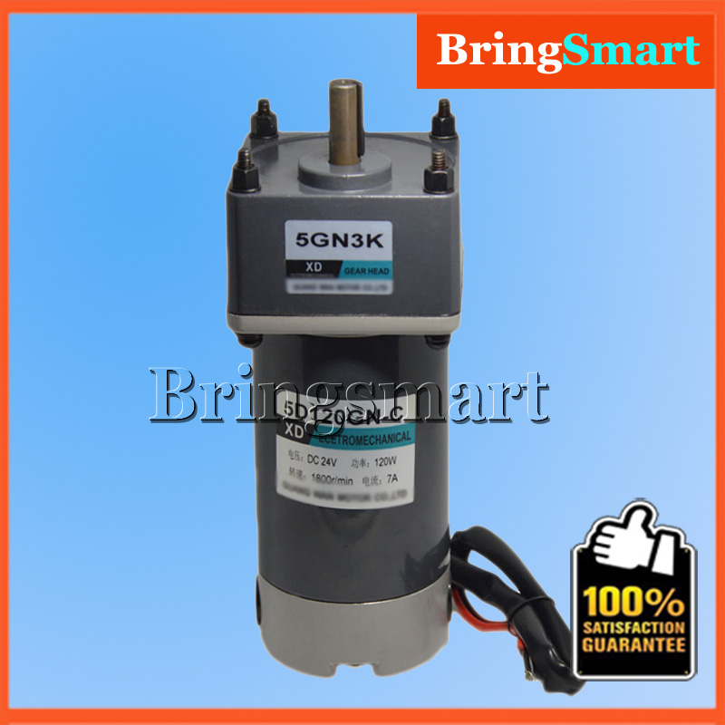 5D120GN-C DC 12 Volt Permanent Magnet Motor 24V DC Low Speed Motor Adjustable Speed Reversible 10 50v 100a 5000w reversible dc motor speed controller pwm control soft start high quality