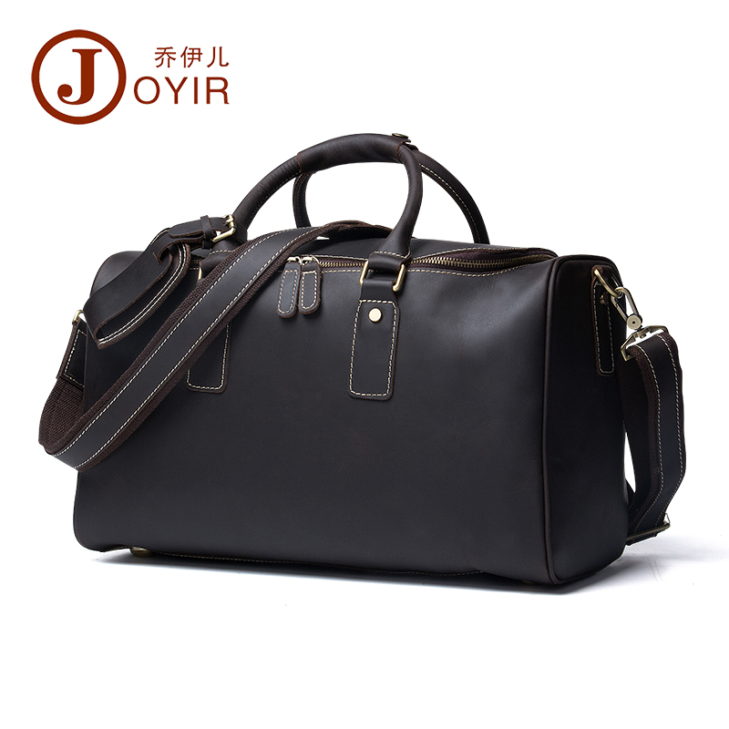 JOYIR Men Crazy Horse Leather Large Capacity Designer Duffle Travel Luggage Bag New Male Suitcase Messenger Shoulder Tote BagJOYIR Men Crazy Horse Leather Large Capacity Designer Duffle Travel Luggage Bag New Male Suitcase Messenger Shoulder Tote Bag