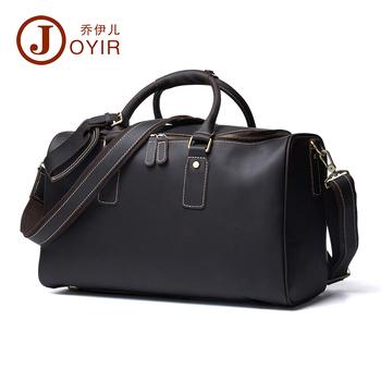 11bd12df9b High Quality JOYIR Men Crazy Horse Leather Large Capacity Designer Duffle Travel  Luggage Bag New Male Suitcase Messenger Shoulder Tote Bag