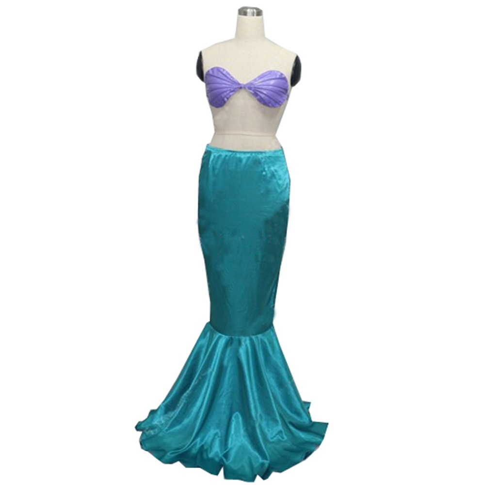 2017 The Little Mermaid Ariel Skirt Princess Ariel Costume Dress for adult Cosplay Costume Tailor-made the little mermaid ariel princess dress cosplay adult ariel mermaid costume women mermaid princess ariel green dress cosplay