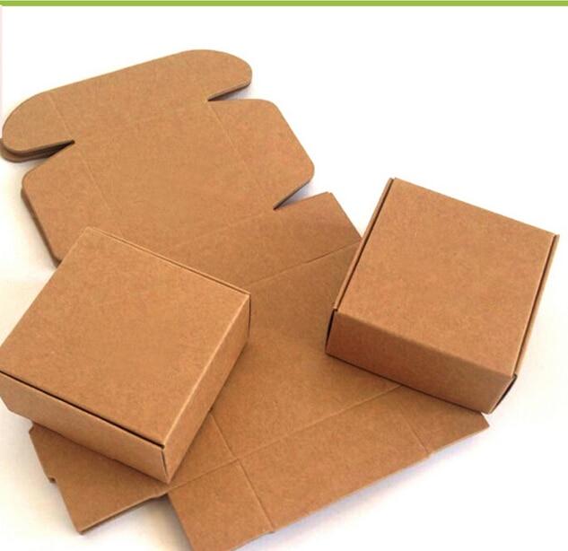 Us 10 17 50pcs Brown Kraft Paper Gift Box Packaging Cardboard Box Small Natural Handmade Soap Kraft Craft Box Kraft Paper Carton Box In Gift Bags