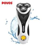 POVOS Fully Washable PQ8602 Professional Universal Voltage 100 240v LCD Mens Mans Electric Shaver Razor 1H