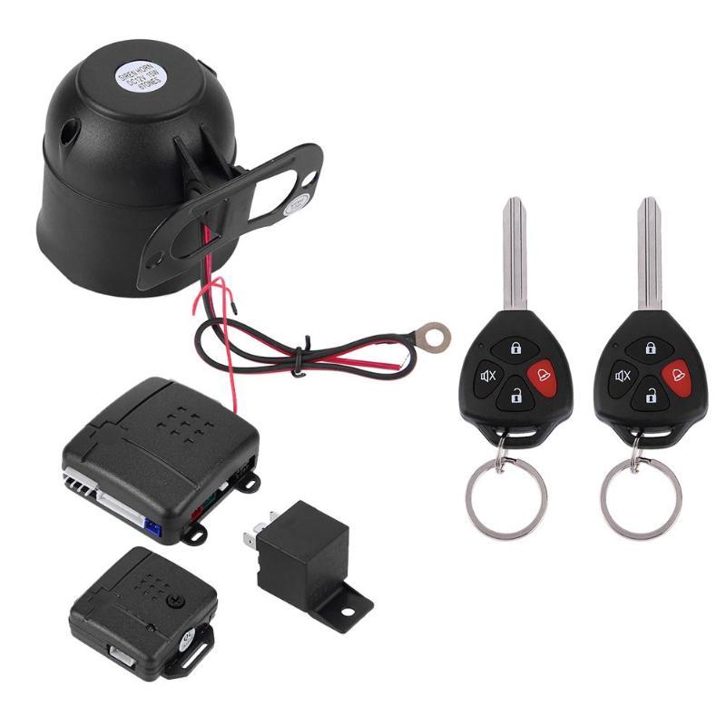 Alarme Voiture Auto Systèm Sécurité Kit 2 Télécommande Verrouillage Central