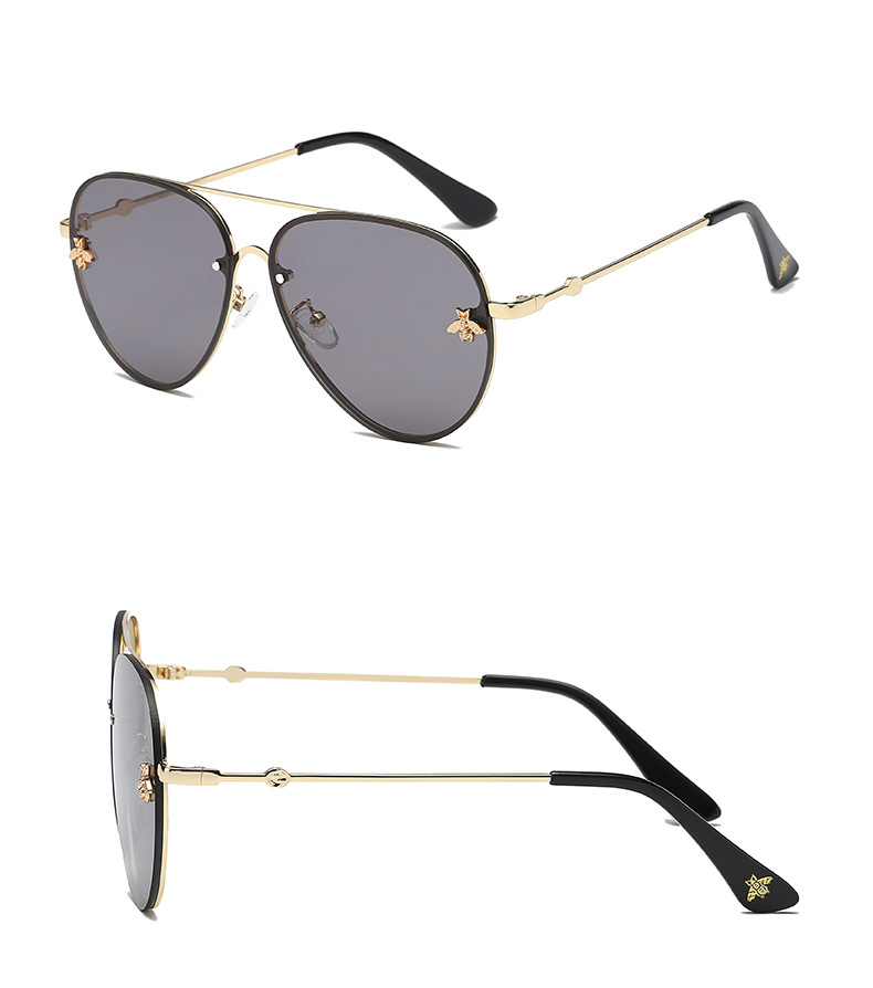 ASOUZ 2019 new fashion ladies sunglasses UV400 metal oval frame bee sunglasses classic brand design sports driving sunglasses