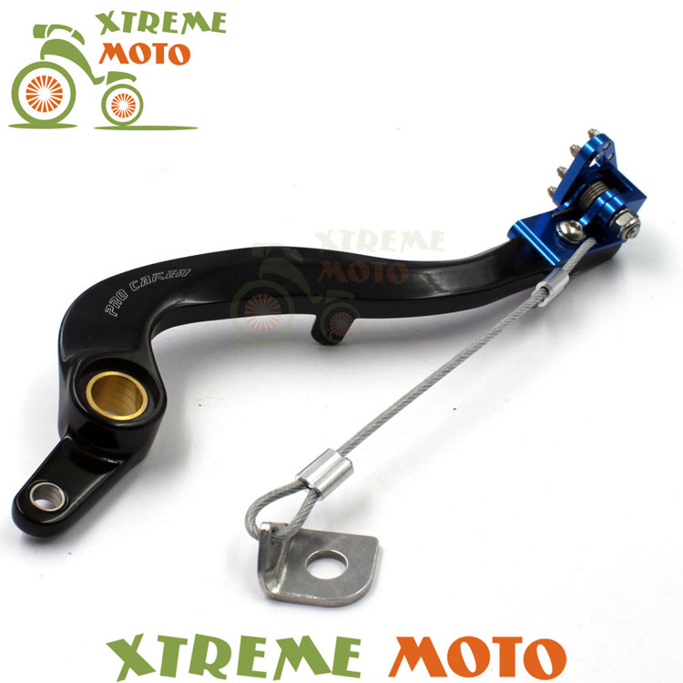 CNC Billet Forged Flexible Blue Rear MX Foot Brake Lever Pedal For YZ450F WRF450 Motocross Dirt Pit Bike Off Road Racing cnc gear shifter shift lever 7108 for crf250r 04 09 crf250x 04 09 crf450r 02 motorcycle motocross mx enduro dirt bike off road