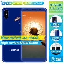 Hızlı kargo Yeni Yıl üzerinde DOOGEE X55 Smartphone 1.3 GHz 1 GB 16 GB Android 7.1 HD MTKDual Kameralar Cep telefonu yan Parmak ...