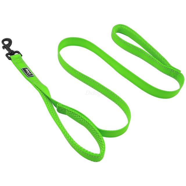 Draft = – 2 Handles Nylon Dog Leash Reflective Dog Walking Leashes Double Handles Pet Training Leads For Medium Large Dogs